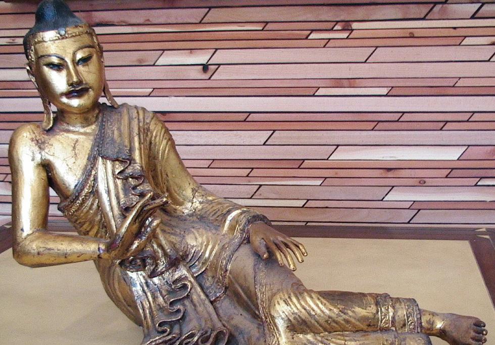 The Hub Gallery, Los Angeles - 18th Century Burmese Reclining Buddha