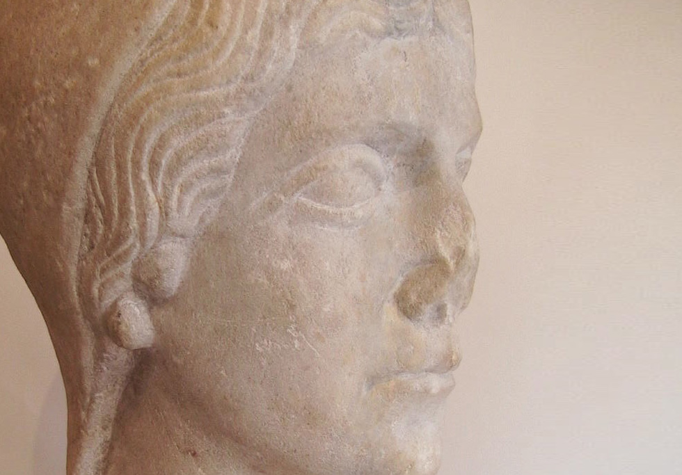 Roman Marble Head Of A Woman, 1st-2nd c. AD