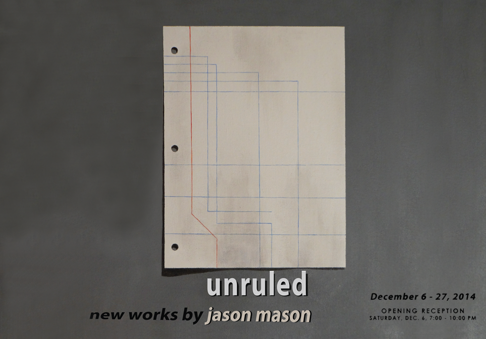 Unruled by Jason Mason at The Hub Gallery