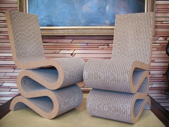 Frank Gehry Canadian/American Wiggle Chairs