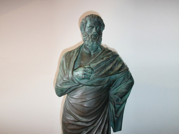 19th c. bronze Sophocles, Barbedienne Foundry