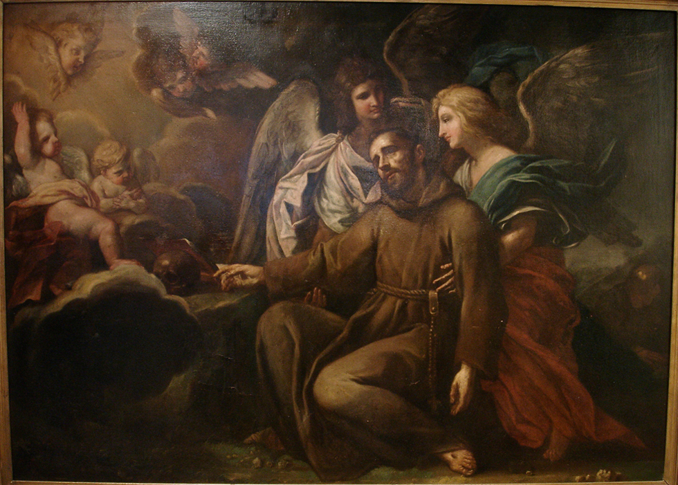 early 18th c italian baroque old master painting st