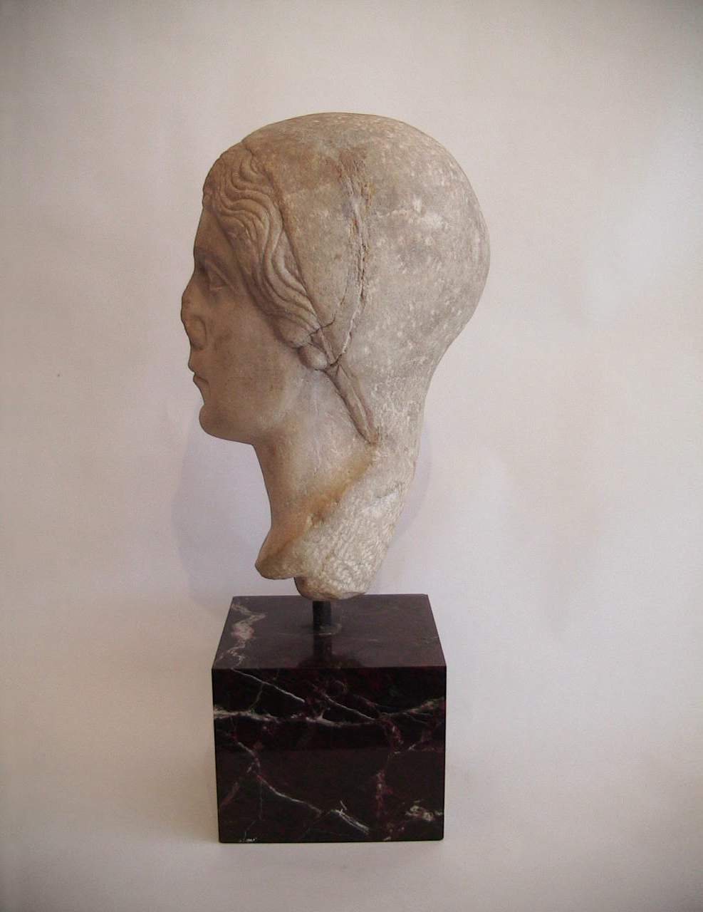 Roman Marble Head Of A Woman 1st 2nd C Ad The Hub